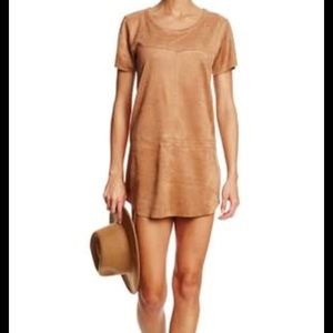Faux Camel Suede t-shirt  Dress by Kensie